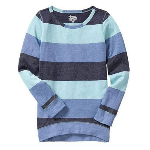 Glitter stripe long T[M(8T)]