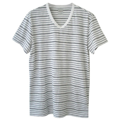 Men stripe T[화이트 S(95)]