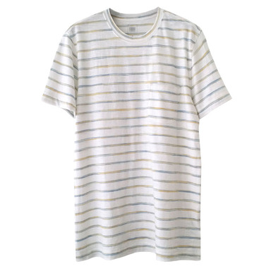 Men stripe T[화이트 M(100)]